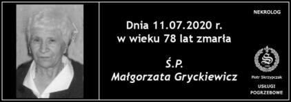 Ś.P. Małgorzata Gryckiewicz