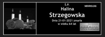 Ś.P. Halina Strzegowska