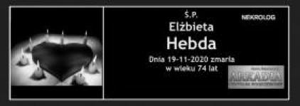 Ś.P. Elżbieta Hebda