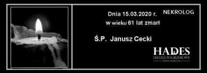 Ś.P. Janusz Cecki