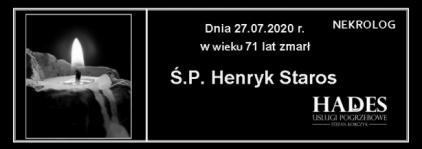 Ś.P. Henryk Staros