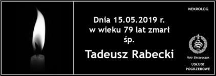 Ś.P. Tadeusz Rabecki