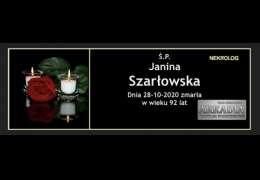 Ś.P. Janina Szarłowska