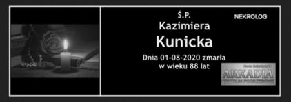 Ś.P. Kazimiera Kunicka