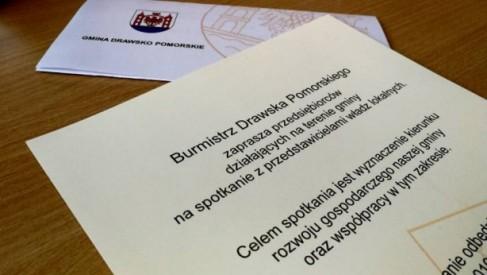 Kierunki rozwoju Drawska Pomorskiego - burmistrz Czerwiński zaprasza przedsiębiorców na spotkanie