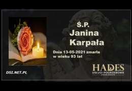 Ś.P. Janina Karpała