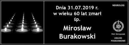 Ś.P. Mirosław Burakowski