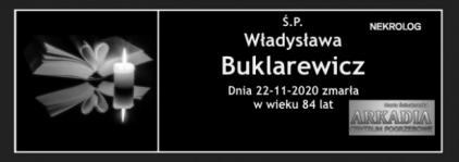 Ś.P. Władysława Buklarewicz