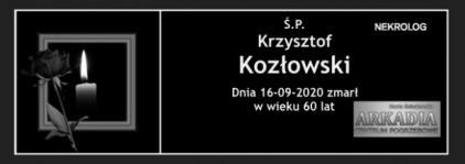 Ś.P. Krzysztof Kozłowski
