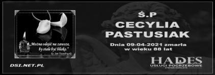 Ś. P. Cecylia Pastusiak