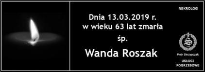Ś.P. Wanda Roszak