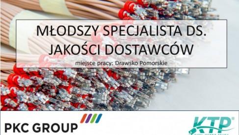 MŁODSZY SPECJALISTA DS. JAKOŚCI DOSTAWCÓW w PKC Group Kabel-Technik-Polska Spółka z o.o.