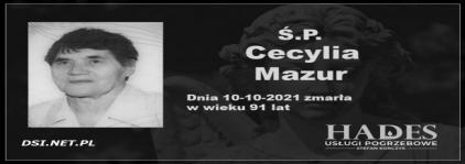 Ś.P. Cecylia Mazur