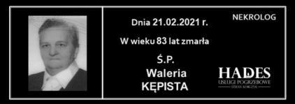 Ś.P. Waleria Kępista
