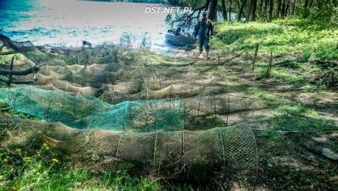 Akcja strażników straży rybackiej na jez. Drawsko