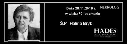 Ś.P.  Halina Bryk