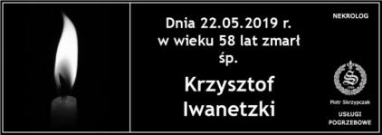 Ś.P. Krzysztof Iwanetzki