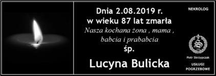 Ś.P. Lucyna Bulicka