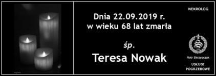 Ś.P. Teresa Nowak