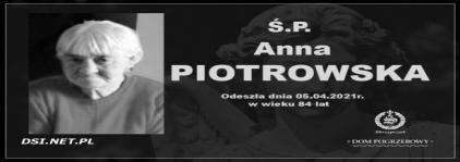 Ś.P. Anna Piotrowska