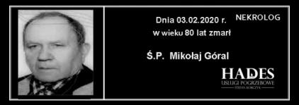 Ś.P. Mikołaj Góral