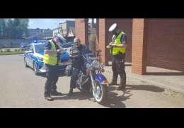 Jednośladem bezpiecznie do celu - działania drawskich policjantów
