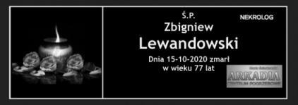 Ś.P. Zbigniew Lewandowski