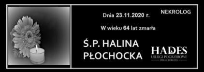 Ś.P. HALINA PŁOCHOCKA
