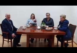 Body dla dzieci z napisem I ♥ Kalisz Pomorski - właśnie upominek otrzymał malutki Aleksander