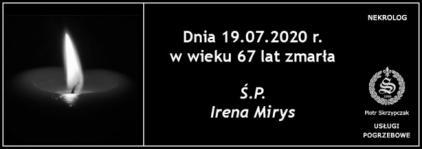 Ś.P. Irena Mirys