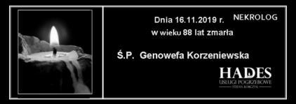 Ś.P. Genowefa Korzeniewska