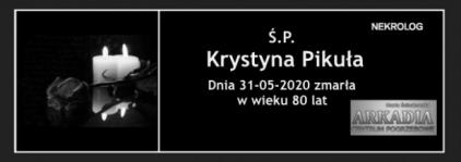 Ś.P. Krystyna Pikuła
