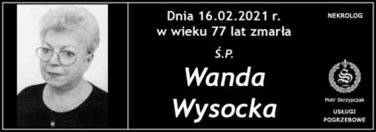 Ś.P. Wanda Wysocka