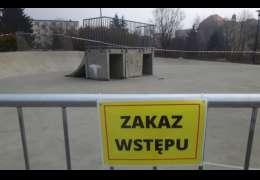 Pytaliście dlaczego cześć skateparku jest zamknięta. Jest komunikat