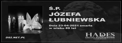 Ś.P. Józefa Łubniewska