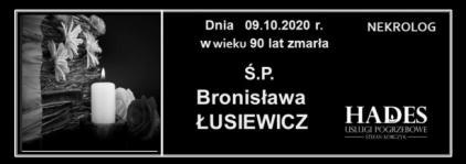 Ś.P.Bronisława Łusiewicz