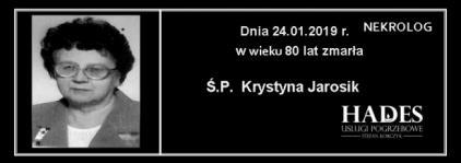 Ś.P. Krystyna Jarosik