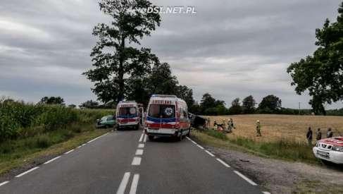 Tragiczny wypadek w okolicach Chmielewa. Jedna osoba poniosła śmierć.