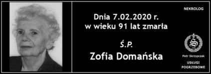 Ś.P. Zofia Domańska