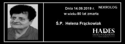 Ś.P. Helena Frąckowiak