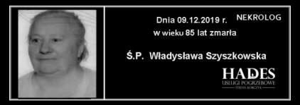 Ś.P. Władysława Szyszkowska
