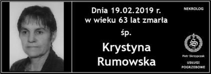 Ś.P. Krystyna Rumowska