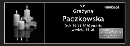 Ś.P. Grażyna Paczkowska