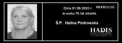 Ś.P. Halina Piotrowska