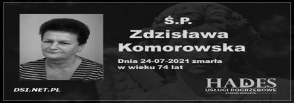 Ś.P. Zdzisława Komorowska