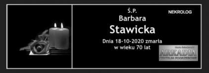 Ś.P. Barbara Stawicka