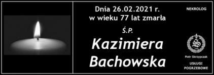 Ś.P. Kazimiera Bachowska