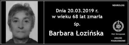 Ś.P. Barbara Łozińska