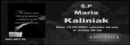 Ś.P. Maria Kaliniak