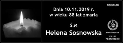 Ś.P. Helena Sosnowska
